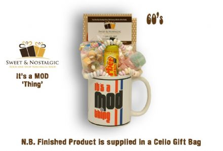 MOD Mug 'It's At' with/without a Groovy Selection  of 60's Sweets